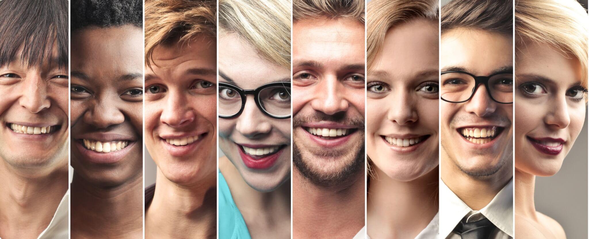Viele Gesichter. Ansprechtipps: Die richtigen Personen ansprechen und Freunde finden