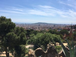 Barcelona Aussicht kostenlos vom Park de Güell