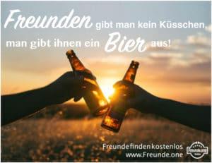 gute Freunde - Freunden gibt man kein Küsschen, man gibt Ihnen ein Bier aus
