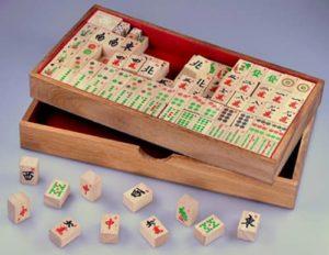 Mahjong Holzspiel